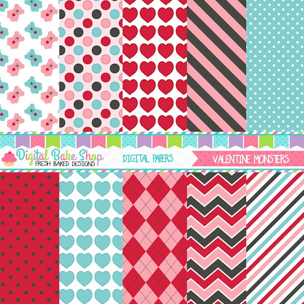 Valentines Day Papers This Set Pairs With The Valentine