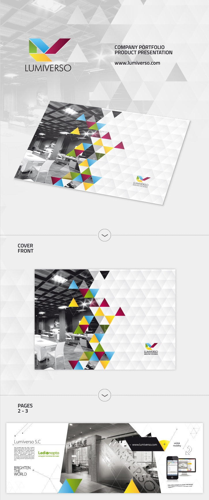 LUMIVERSO - Company catalog / folder - LED PRODUCTS - via Behance.net