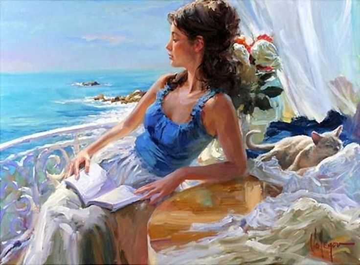 Beautiful, original hand-painted artwork in your home. Vides florecientes based on the masters' works of Vladimir Volegov.