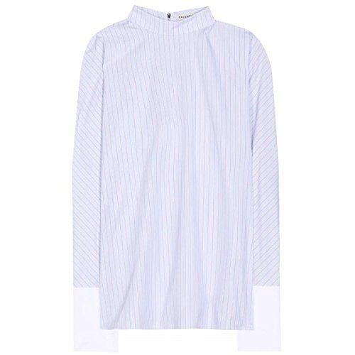 (バレンシアガ) Balenciaga レディース トップス 長袖シャツ Striped cotton shirt 並行輸入品  新品【取り寄せ商品のため、お届けまでに2週間前後かかります。】 商品番号:hb4-p00149043