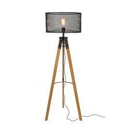 Dřevo a kov se u stojací lampy nebije, ale doplňuje. A doplní i vás domov.