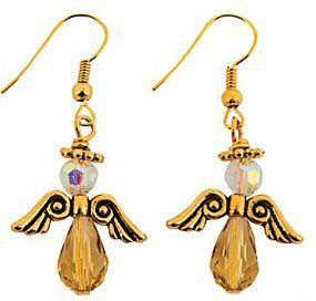 Gold Angel Earrings handmade