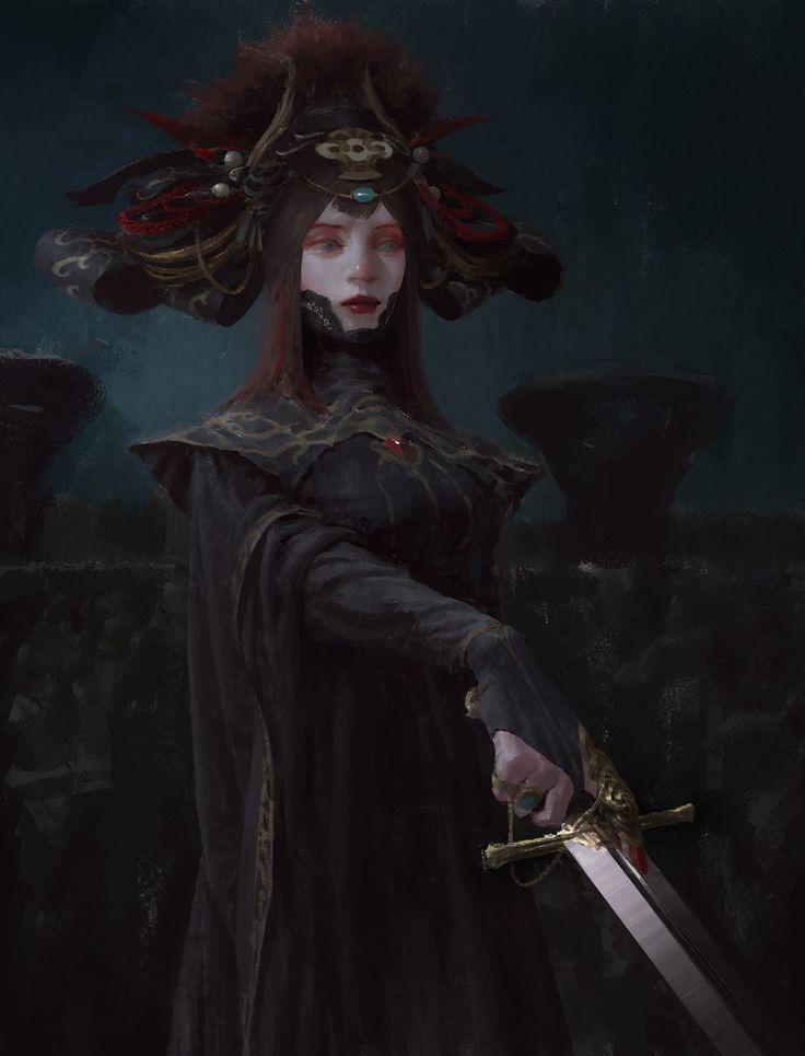fantasyartwatch:  Queen by Luca Xu