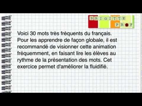 Brigitte Prof – Mots fréquents du français – Lecture, série 1