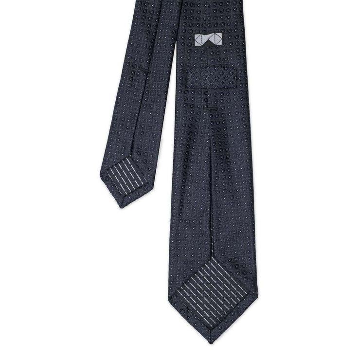 Grey Jacquard Silk Tie