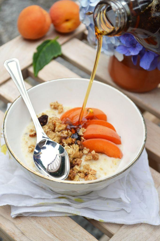 porridge vanillé fondant et croquant au granola