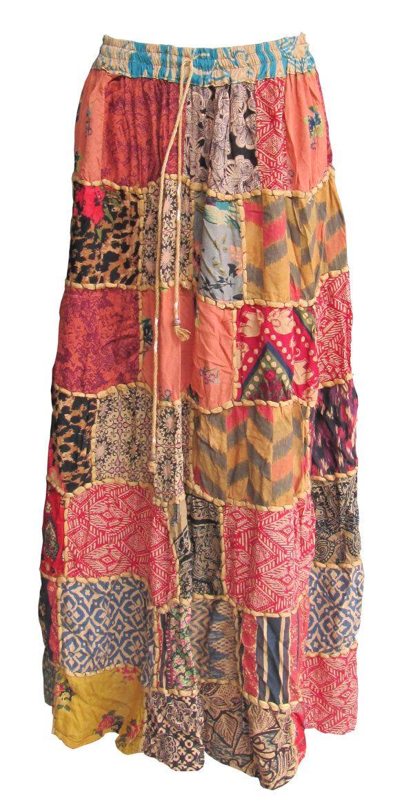 Patchwork Skirt Hippie Skirt Boho Gypsy Skirt  https://www.etsy.com/listing/247415385/patchwork-skirt-hippie-skirt-boho-gypsy?ref=shop_home_active_5