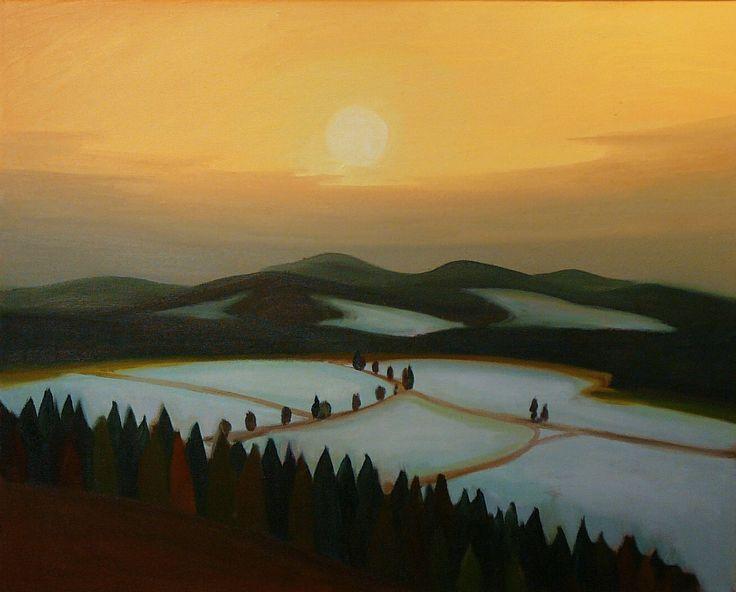 Jaroslav Valecka - Luzicke hory, oil on canvas