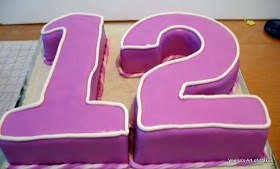 How to Make Number Cakes - One, Two or Twelve 1,2 or 12. #birthday #cake
