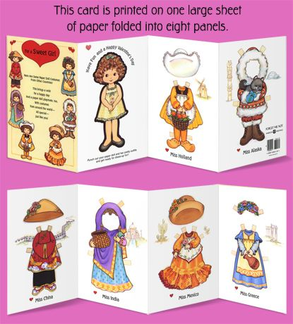 86 best Greeting Cards images – Girl Valentine Cards
