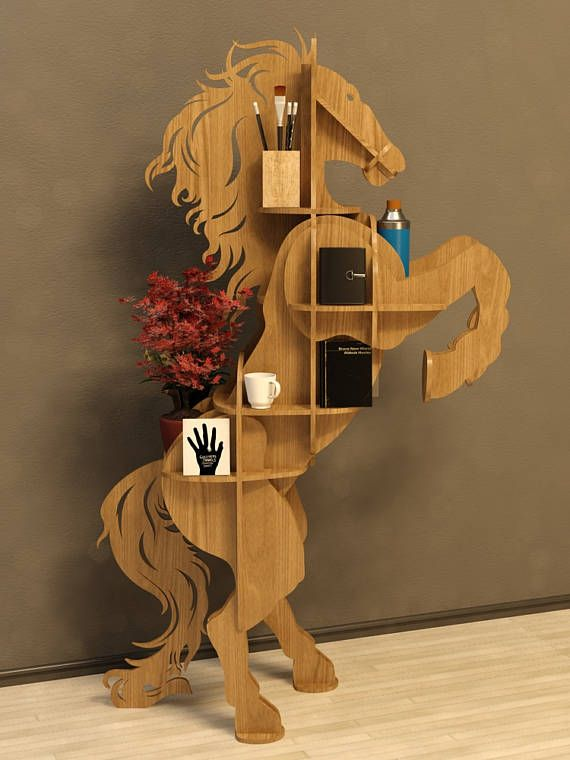 Modelo de caballo cuadro 3D animales CNC decoración