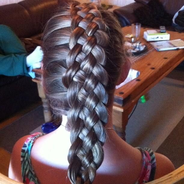 cool braids | cool braid – You use five strands, and you do as a regular braid ...