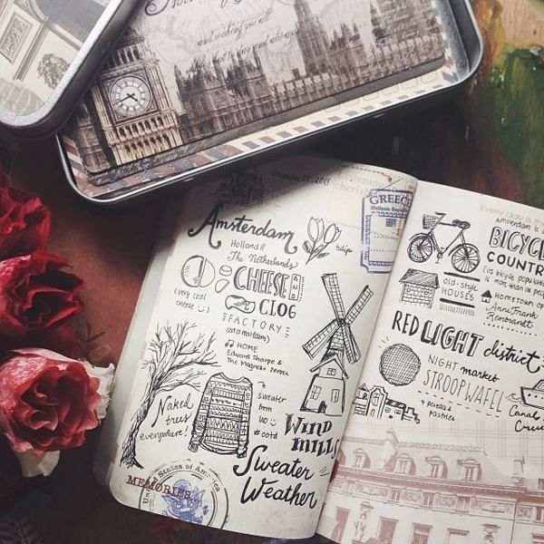 Travel Diaries: Europe by Abbey Sy, via Behance