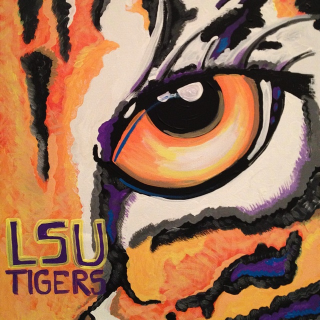 Exceptional LSU Acrylics On Canvas. Painted It As A Christmas Gift