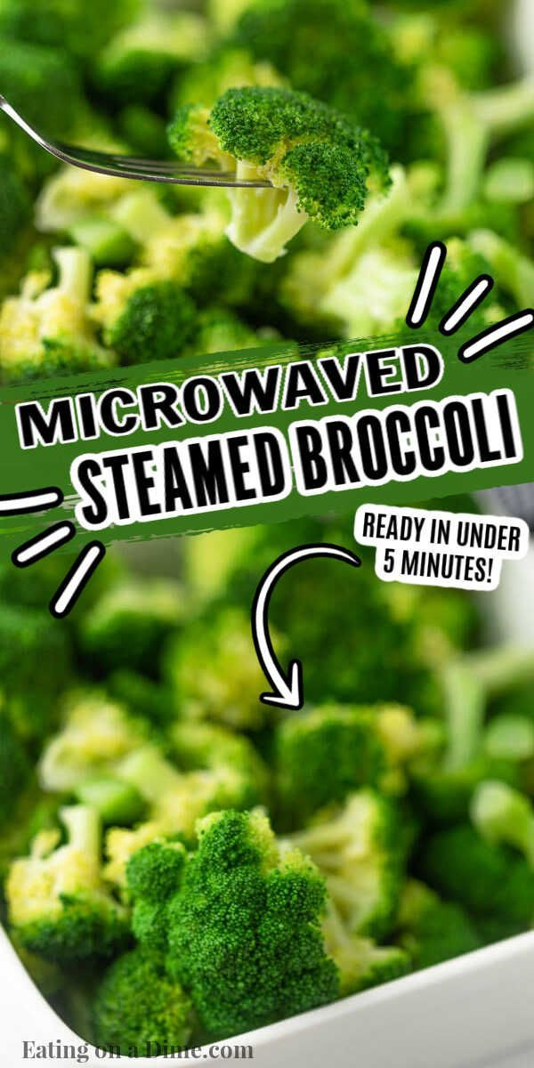Learn How To Steam Broccoli In Microwave This Easy And Healthy Side Dish Takes Only 3 Minutes Enjo In 2021 Steamed Broccoli Broccoli Healthy Side Dishes
