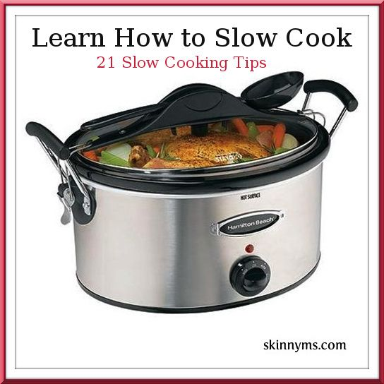 Learn how to best utilize your slow cooker by checking out these 21 slow cooker tips : )  #skinnyms #skinnyslowcooker #slowcooker