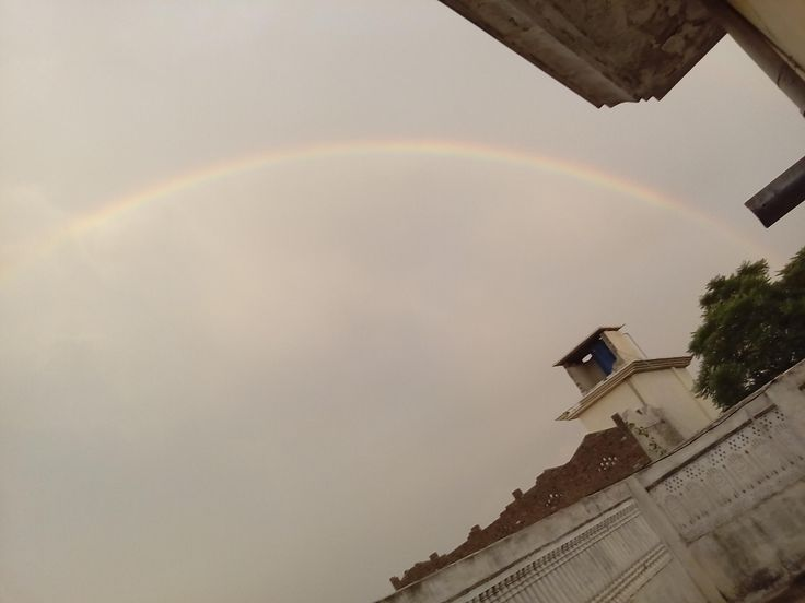 Rainbow shot from my roof
