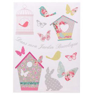 Sticker jardin bucolique maisons du monde d co chambre - Maison du monde stickers ...