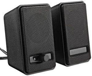 AmazonBasics A100 Enceintes pour ordinateur Alimentation USB – Noir
