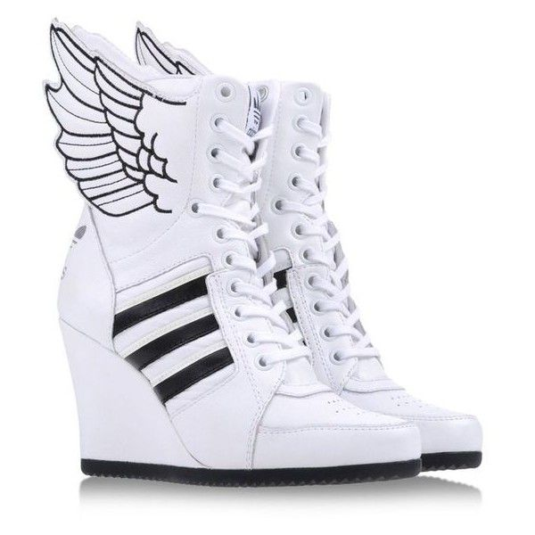 JEREMY SCOTT ADIDAS High-tops ? liked on Polyvore featuring shoes, sneakers,  leather