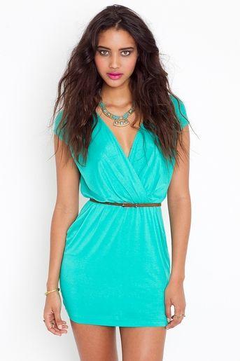 Jade: Dreams Closet, Style, Clothing, Sunday Wraps, Aqua Dresses, The Dresses, Wraps Dresses, Bold Colors, Bright Colors
