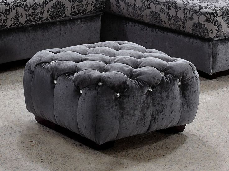 "Divani Casa Metropolitan Modern Grey Fabric Ottoman w/Crystals. The Divani Casa Metropolitan Modern Grey Fabric Ottoman with Crystals is upholstered in luxurious grey fabric featuring tufts with gorgeous artificial crystals. With a dimension of W26"" x D26"" x H14"", this modern ottoman is available in other upholstery by special order in 10-16 weeks. Dimensions: W26"" x D26"" x H14"" Color: Grey Finish:   -"