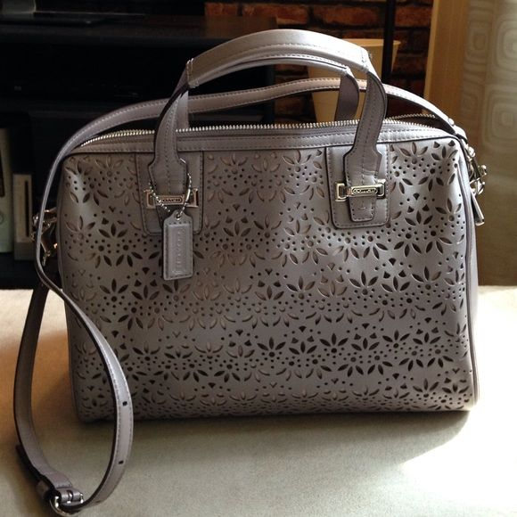 Spotted while shopping on Poshmark: *SOLD AS BUNDLE*  Coach Satchel Silver / Putty! #poshmark #fashion #shopping #style #Coach #Handbags