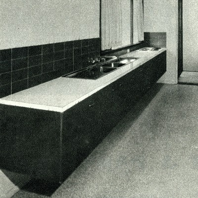 Original Pettit+Sevitt kitchen from the 'Lowline' design is very similar in look to the kitchen we will renovate.