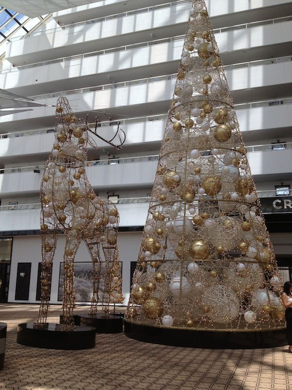Christmas decorations in the foyer of Crown Hotel - Perth - Western Australia