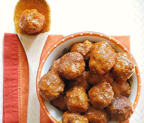 Boulettes de dinde à la mijoteuse avec sauce barbecue aux pommes - Slow Cooker Turkey Meatballs with Apple Barbecue Sauce - dinde - turkey - mijoteuse - slow-cooker