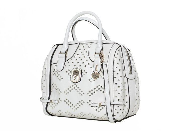 Dámská bílá kabelka GUESS, s perforováním - 100062050   obujsi.cz - dámská, pánská, dětská obuv a boty online, kabelky, módní doplňky