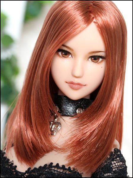 1/6 custom head no.712: Obitsu 01 red brown hair | Otras ...