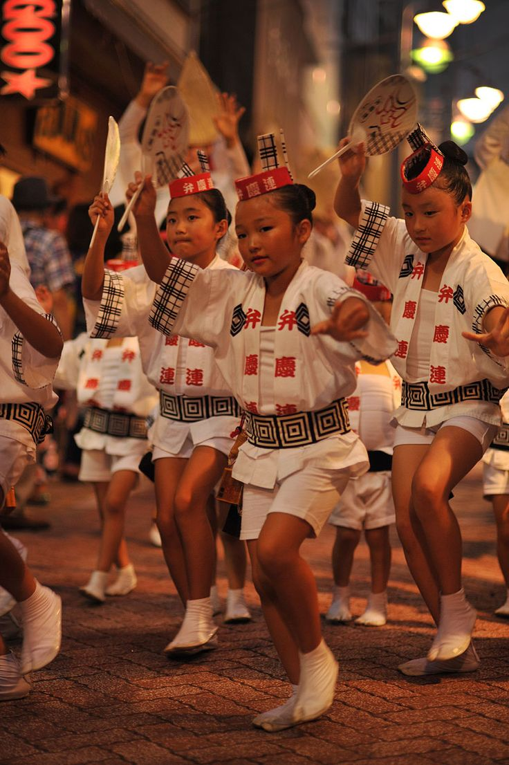 Benkeiren dance team at Koenji Awaodori Festival, Japan