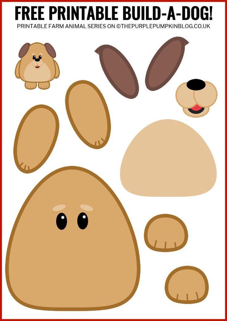 Free Printable Build-A-Dog / Printable Animals Series