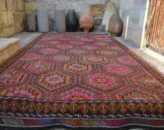 Size Kilim Handembroidery Rug Flatwoven Designers Rugs Online Wool