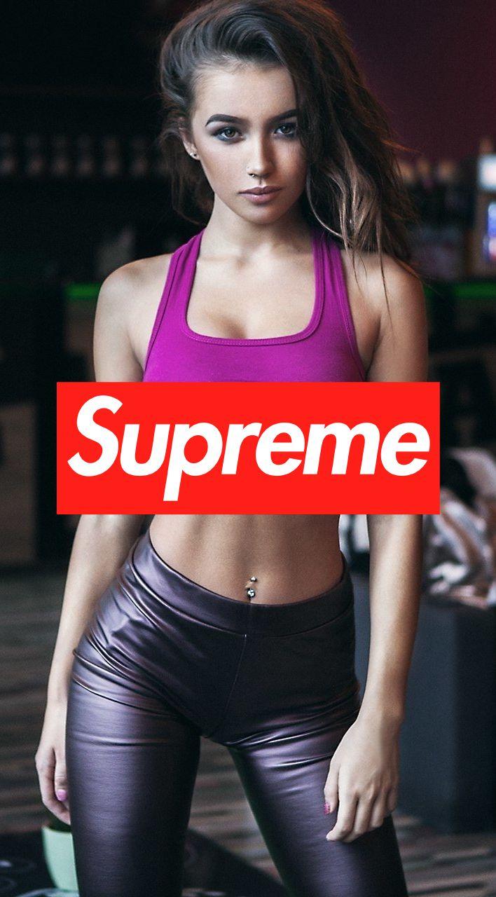 HOT SEXY SUPREME GIRL IPHONE WALLPAPER 8 | Supreme in 2019 | Supreme wallpaper, Girl iphone ...