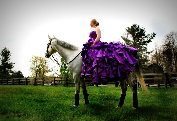 A bride-to-be on horseback at the Glade Springs #Equestrian Center.  #horses #weddings #bridal (image courtesy Kelly Carrico Photography kellycarricophotography.com)