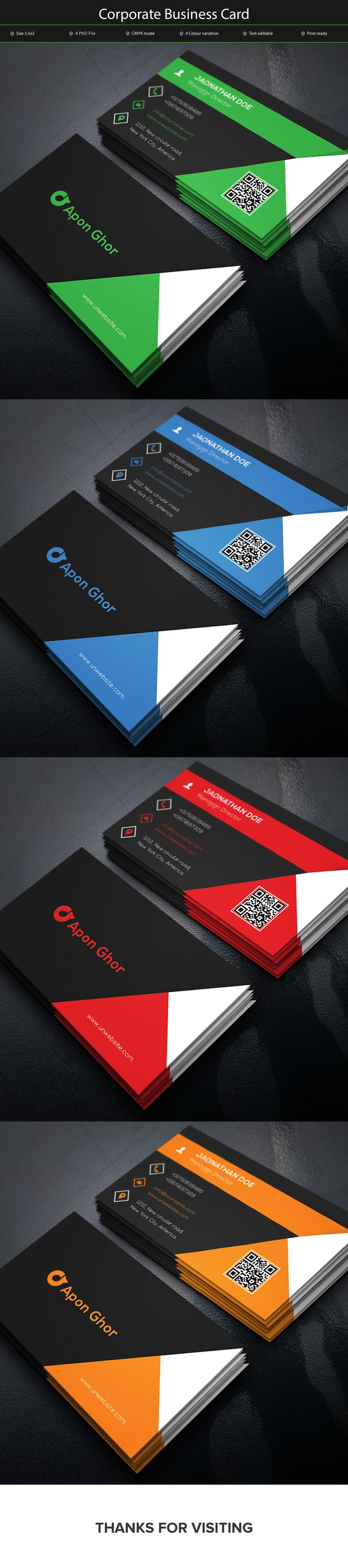13 Best Business Card Images On Pinterest Business Cards Blue