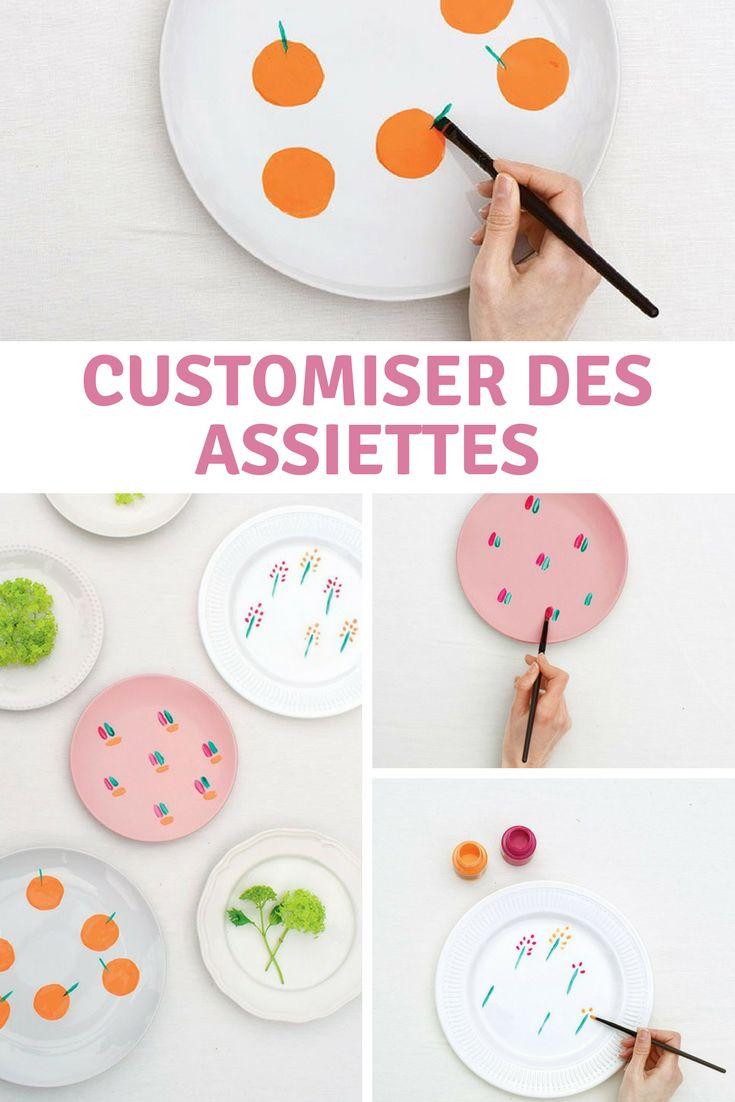 Quelques coups de pinceau suffisent pour donner un nouveau look à votre vaisselle ! Alors on choisit sa couleur préférée et on customise ses assiettes en suivant le tutoriel de Vanessa du blog Les Gambettes Sauvages.
