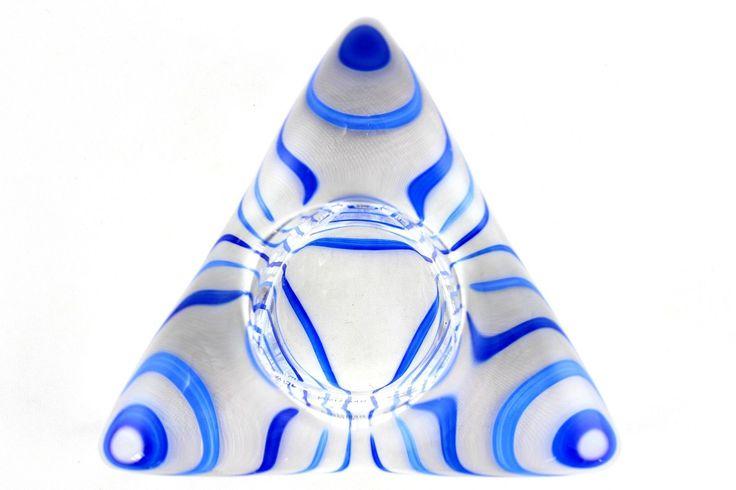 A Ulrica Hydman-Vallien tealight holder for Kosta Boda. Swedish art glass •…