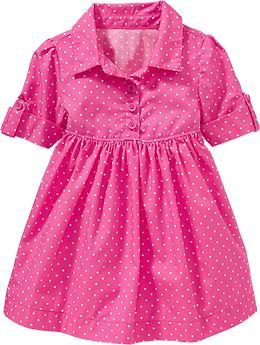 Polka-Dot Shirt Dresses for Baby