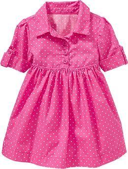 Polka-Dot Shirt Dresses for Baby
