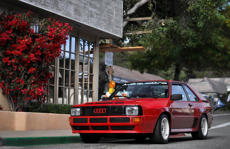hey look! My dads old car! :D (well.. different colour but still :D ) Audi Quattro sport