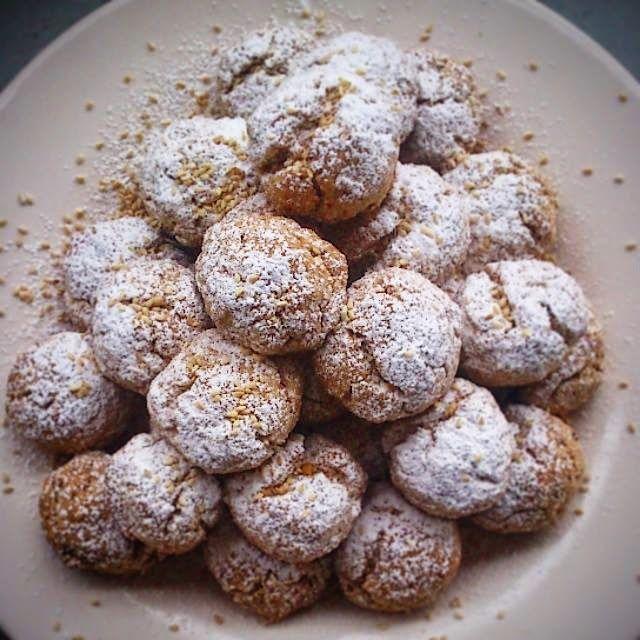 JeanneDôme: Μαρόκο - Ghriyba bahla - μπισκότα σαμπλέ με σουσάμι - moroccan sesame cookies