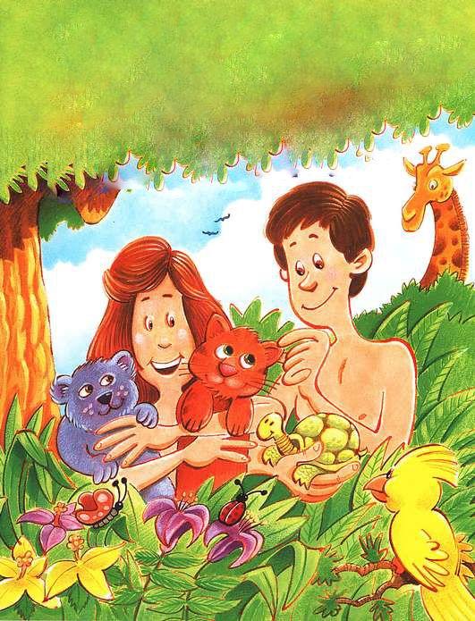 Deus criou Adão e Eva         Fonte: http://sementinhakids.wordpress.com/      Fonte: http://www.ebdonline.com.br/