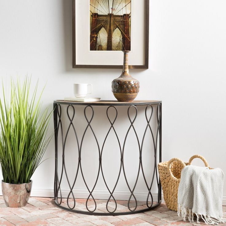 ad: Marbella White Rusty Firwood Large Console Table  If you are looking for a unique table to add to your living room or office, then look no further than the Marbella accent table. Constructed out of wood and iron, the Marbella table features a striking blend of sturdy construction and decorative shaping  http://www.shareasale.com/m-pr.cfm?merchantID=69984&userID=1079412&productID=689116233