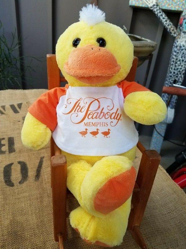 The Peabody Hotel Memphis Plush Large Yellow & Orange Stuffed Toy Duck Logo Tee #ZoovenirXL