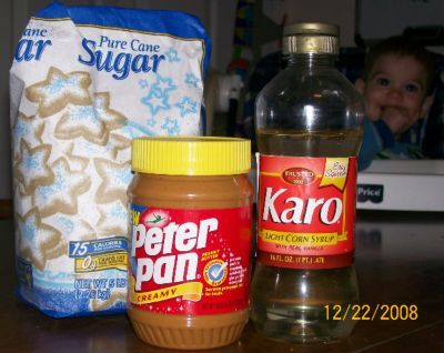 Homemade Peanut Butter Hard Candy Ingredients. Ever since See's candy stopped making peanut butter suckers I have been looking for this! Gotta try it soon!