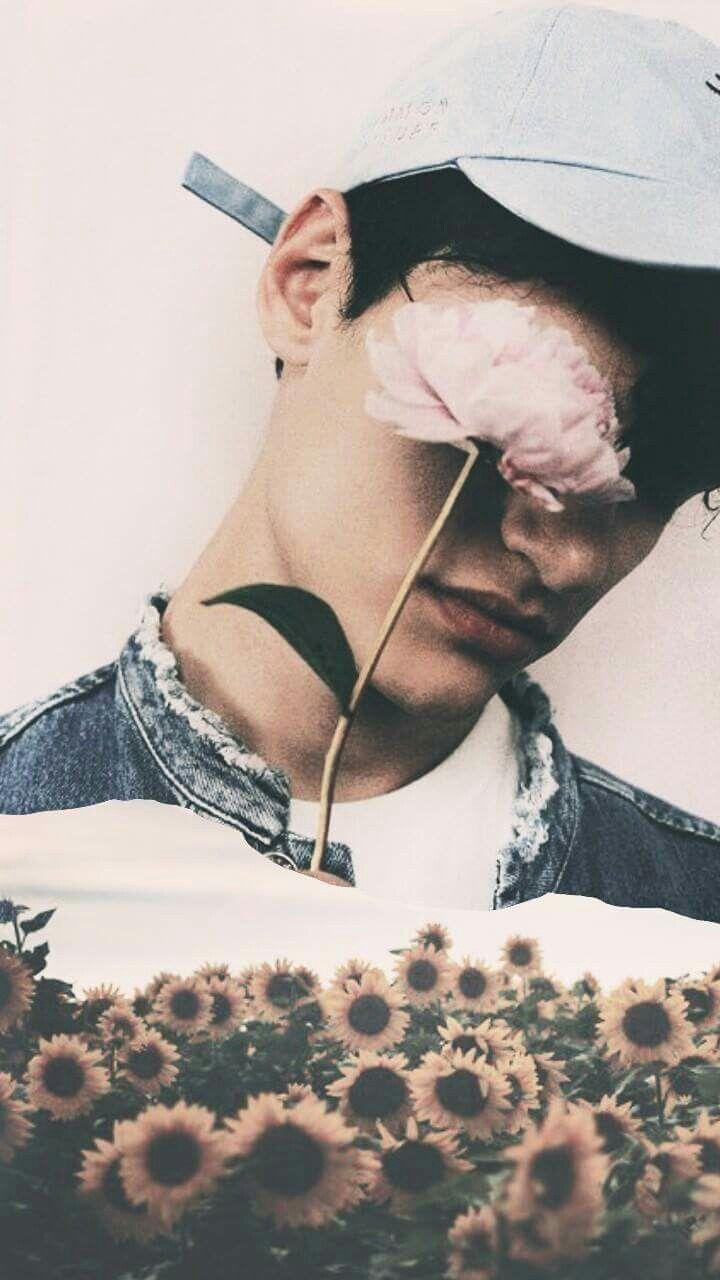 #wallpaper #lockscreen #random #flower #boy #randomboy