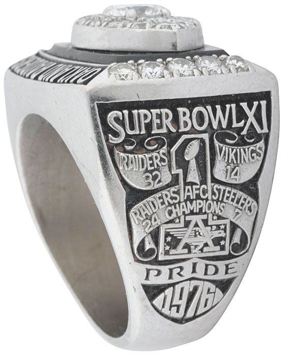 Oakland Raiders Super Bowl XI Ring